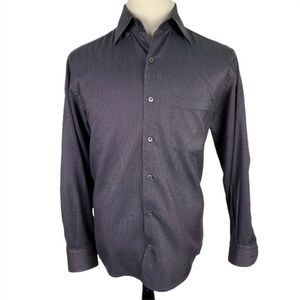 Ermenegildo Zegna Dress Shirt Medium Black Purple